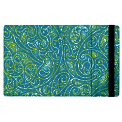 Abstract Blue Green Jungle Paisley Apple Ipad Pro 9 7   Flip Case