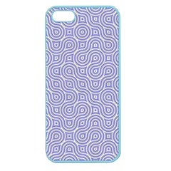 Royal Purple Grey And White Truchet Pattern Apple Seamless Iphone 5 Case (color)