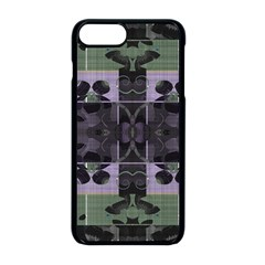 Chive Purple Black Abstract Art Pattern Iphone 8 Plus Seamless Case (black)