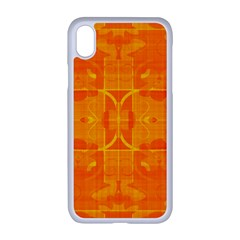 Orange Peel Abstract Batik Pattern Iphone Xr Seamless Case (white)
