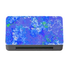 Bright Blue Paint Splatters Memory Card Reader With Cf by SpinnyChairDesigns