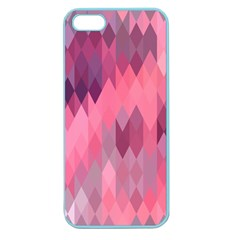 Pink Purple Diamond Pattern Apple Seamless Iphone 5 Case (color)