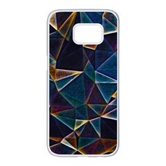 Broken Bubbles Samsung Galaxy S7 Edge White Seamless Case