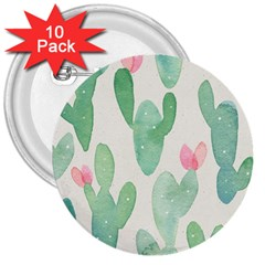 Photography-backdrops-for-baby-pictures-cactus-photo-studio-background-for-birthday-shower-xt-5654 3  Buttons (10 Pack)  by Sobalvarro
