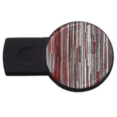 Abstract Grunge Stripes Red White Green Usb Flash Drive Round (4 Gb) by SpinnyChairDesigns
