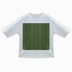 Chive And Olive Stripes Pattern Infant/toddler T-shirts by SpinnyChairDesigns