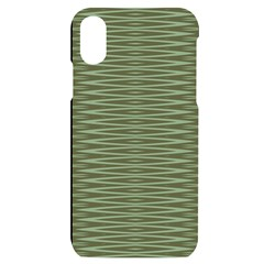 Chive And Olive Stripes Pattern Iphone X/xs Black Uv Print Case by SpinnyChairDesigns