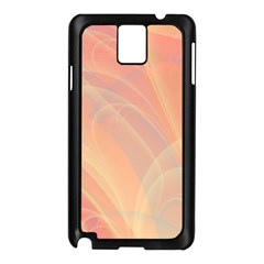 Coral Cream Abstract Art Pattern Samsung Galaxy Note 3 N9005 Case (black)
