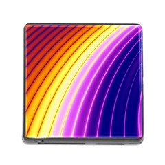 Sporty Stripes Swoosh Purple Gold Red Memory Card Reader (square 5 Slot) by SpinnyChairDesigns