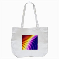 Sporty Stripes Swoosh Purple Gold Red Tote Bag (white) by SpinnyChairDesigns