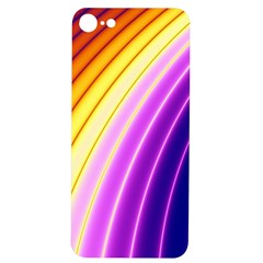 Sporty Stripes Swoosh Purple Gold Red Iphone 7/8 Soft Bumper Uv Case by SpinnyChairDesigns