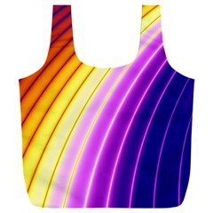 Sporty Stripes Swoosh Purple Gold Red Full Print Recycle Bag (xxxl)