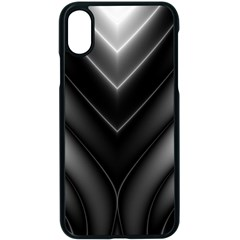 Black And Silver Pattern Iphone Xs Seamless Case (black)