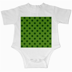 Green Four Leaf Clover Pattern Infant Creepers by SpinnyChairDesigns