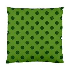 Green Four Leaf Clover Pattern Standard Cushion Case (two Sides)