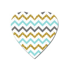 Chevron  Heart Magnet by Sobalvarro