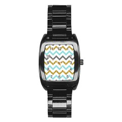 Chevron  Stainless Steel Barrel Watch by Sobalvarro