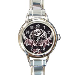 Angel Crying Blood Dark Style Poster Round Italian Charm Watch