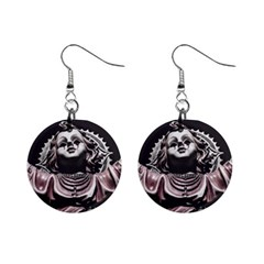 Angel Crying Blood Dark Style Poster Mini Button Earrings