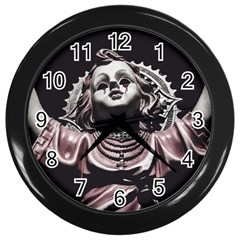 Angel Crying Blood Dark Style Poster Wall Clock (black)