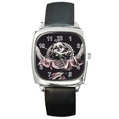 Angel Crying Blood Dark Style Poster Square Metal Watch