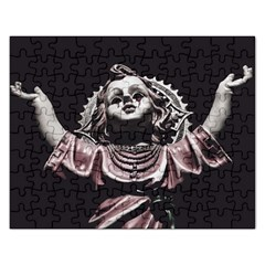 Angel Crying Blood Dark Style Poster Rectangular Jigsaw Puzzl