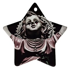 Angel Crying Blood Dark Style Poster Star Ornament (two Sides)