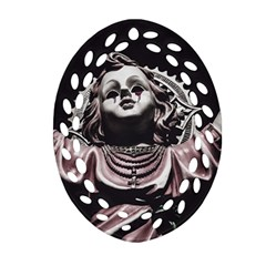 Angel Crying Blood Dark Style Poster Ornament (oval Filigree)