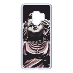 Angel Crying Blood Dark Style Poster Samsung Galaxy S9 Seamless Case(white)