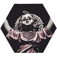 Angel Crying Blood Dark Style Poster Wooden Puzzle Hexagon
