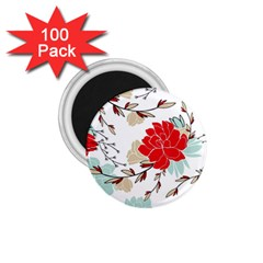Floral Pattern  1 75  Magnets (100 Pack)  by Sobalvarro