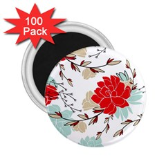 Floral Pattern  2 25  Magnets (100 Pack)  by Sobalvarro