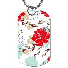 Floral Pattern  Dog Tag (one Side) by Sobalvarro