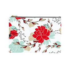 Floral Pattern  Cosmetic Bag (large) by Sobalvarro