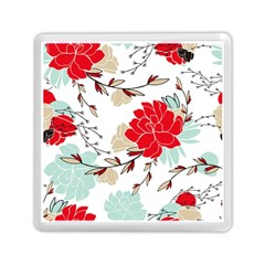 Floral Pattern  Memory Card Reader (square) by Sobalvarro