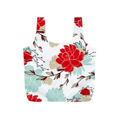 Floral Pattern  Full Print Recycle Bag (s) by Sobalvarro