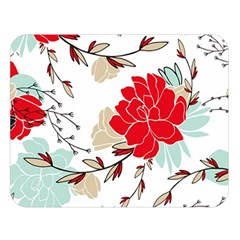 Floral Pattern  Double Sided Flano Blanket (large)  by Sobalvarro