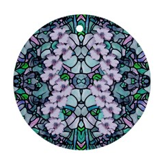Paradise Flowers In Paradise Colors Ornament (round)