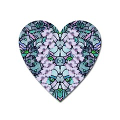 Paradise Flowers In Paradise Colors Heart Magnet