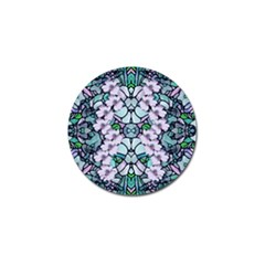 Paradise Flowers In Paradise Colors Golf Ball Marker