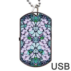 Paradise Flowers In Paradise Colors Dog Tag Usb Flash (two Sides)