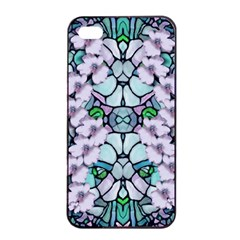 Paradise Flowers In Paradise Colors Iphone 4/4s Seamless Case (black)