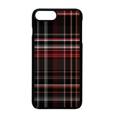 Red Black White Plaid Stripes Iphone 7 Plus Seamless Case (black)