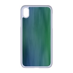 Green Blue Gradient Batik Iphone Xr Seamless Case (white)