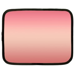 Pink Blush Gradient Ombre Colors Netbook Case (large) by SpinnyChairDesigns