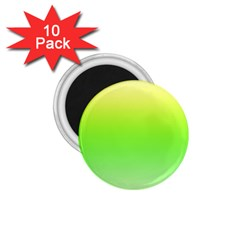 Lemon Yellow And Lime Green Gradient Ombre Color 1 75  Magnets (10 Pack)  by SpinnyChairDesigns