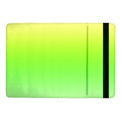 Lemon Yellow And Lime Green Gradient Ombre Color Samsung Galaxy Tab Pro 10 1  Flip Case by SpinnyChairDesigns
