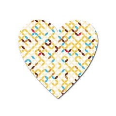 Tekstura-seamless-retro-pattern Heart Magnet by Sobalvarro