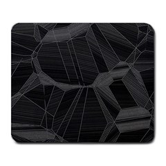 Black Tourmaline Stone Geometric Pattern Large Mousepads by SpinnyChairDesigns
