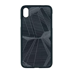 Black Tourmaline Stone Geometric Pattern Iphone Xr Seamless Case (black)
